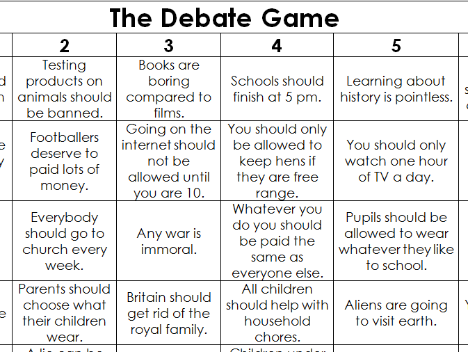 The Debate Game