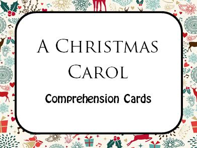 A Christmas Carol  Comprehension Cards (Lit paper 1 section B) AQA