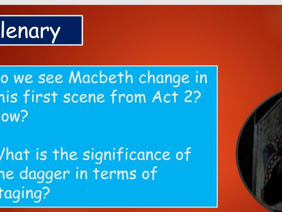 KS4 GCSE Macbeth Act 2 Scene 1