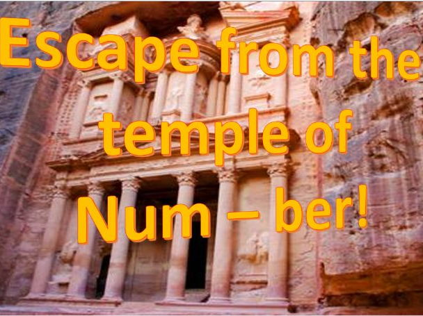 Escape from the temple of Num - ber! A fun GCSE foundation maths revision task