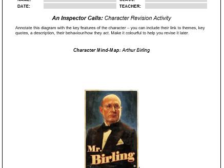 AIC - Character Worksheet - Arthur Birling