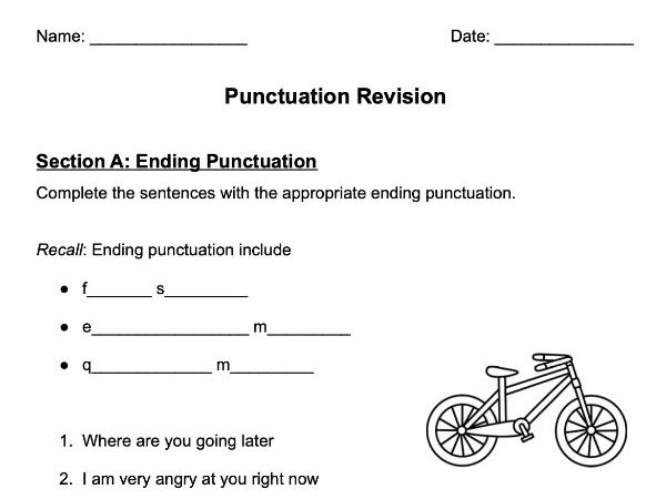 KS2 Punctuation Revision (Comprehensive, includes all punctuation)