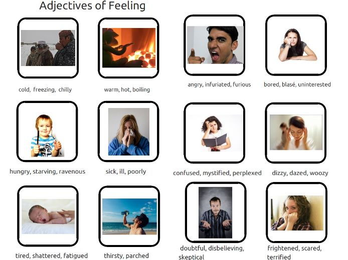 Adjectives and Synonyms for Feelings and Emotions - with pictures
