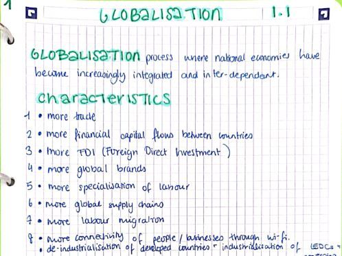 A2/A-Level Year 2 Macro Economics Notes