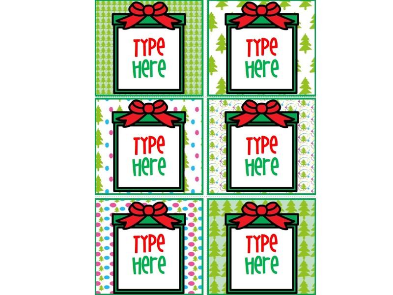 Editable Christmas Labels