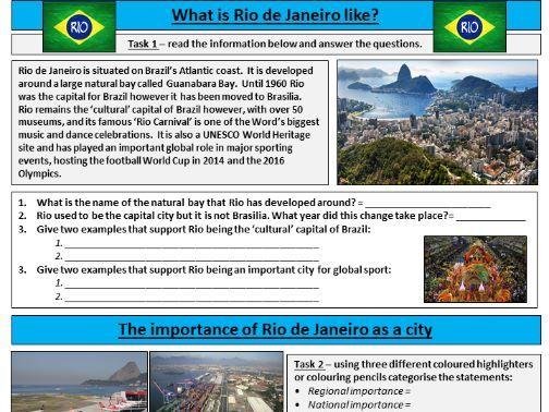Importance of Rio de Janeiro Worksheet