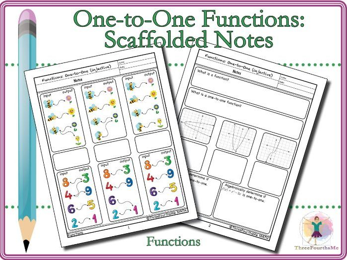 One-to-One Function Notes