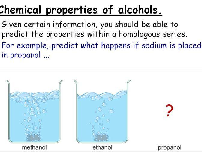 Alcohols and Ethanol Production GCSE Lesson (SC23a SC23b) TRIPLE