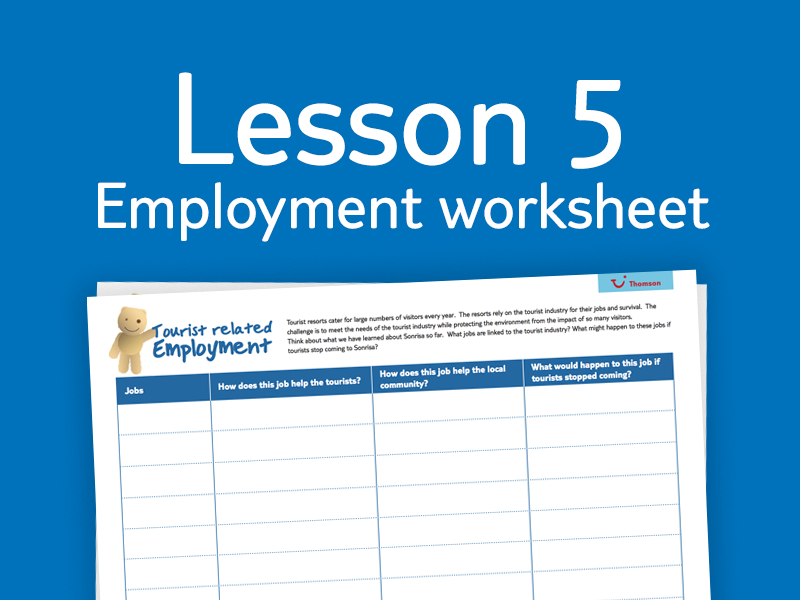 Lesson 5 - Activity 3: Employment worksheet