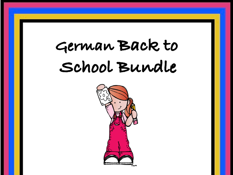 German Back to School Bundle: 5 Resources for Beginners @40% 0ff!