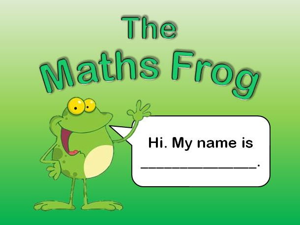 Maths Frog. Subtraction by addition activity.