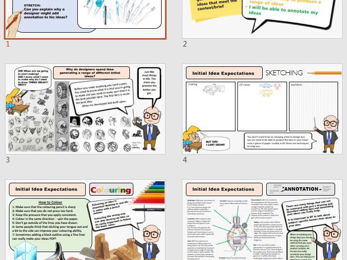 Initial Ideas - Generic - Editable Slide and Worksheet