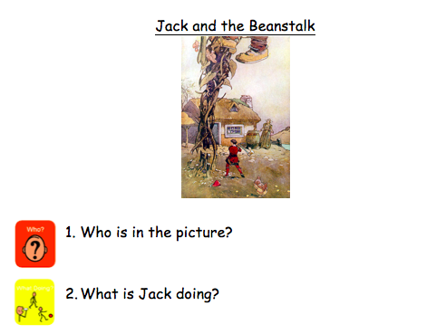 Colourful semantics picture comprehension - Magic and fairytales