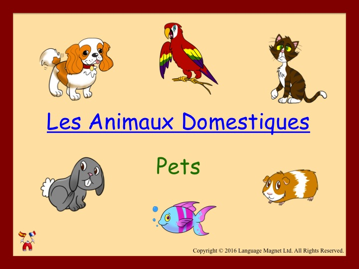 French Pets Audio Sheet
