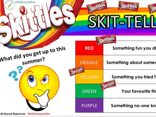@AllRoundRes BACK TO SCHOOL ACTIVITY! Skit-tell-us!