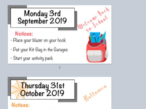 Themed Morning Bulletin PowerPoint Slides