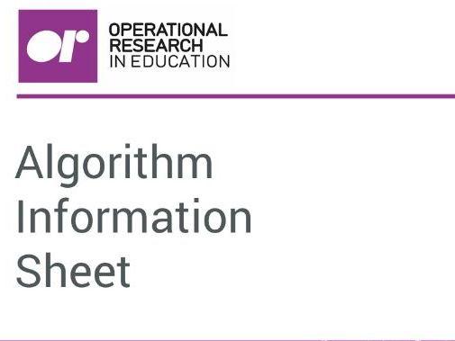 Algorithm Info Pack