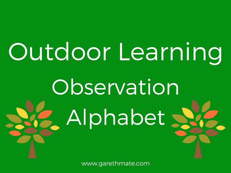 Outdoor Learning - Observation Alphabet