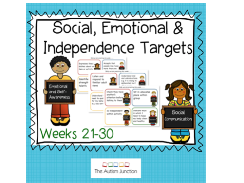 Social, Emotional and Independence Targets weeks 21-30