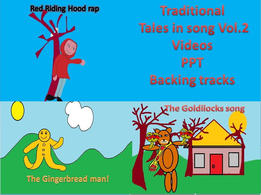 3 Traditional stories in song. Video,PPT,Mp3s Vol. 2