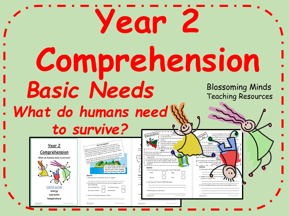 SATs Reading Comprehension - Year 2 - Basic Needs for Survival (science)