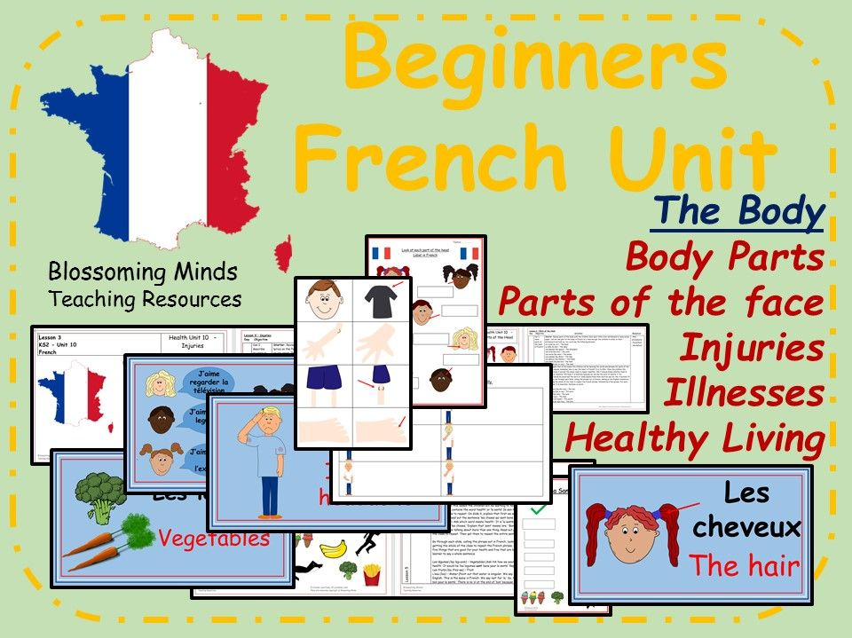 French Lesson Bundle - The Body - KS2
