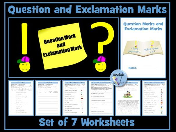 Question Mark and Exclamation Mark Worksheets
