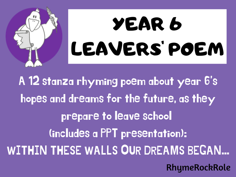 Y6 LEAVERS' POEM-perfect for graduation