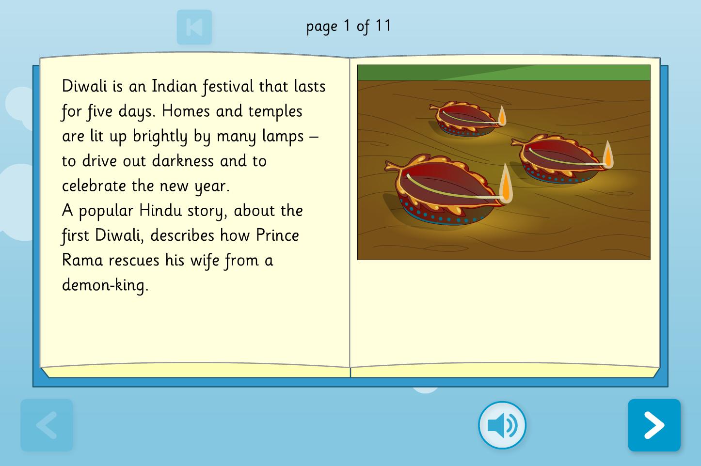 Rama And Sita Interactive Storybook - Reading Level A - Diwali KS1