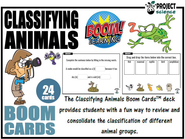Classifying Animals Boom Cards™ - Distance Learning