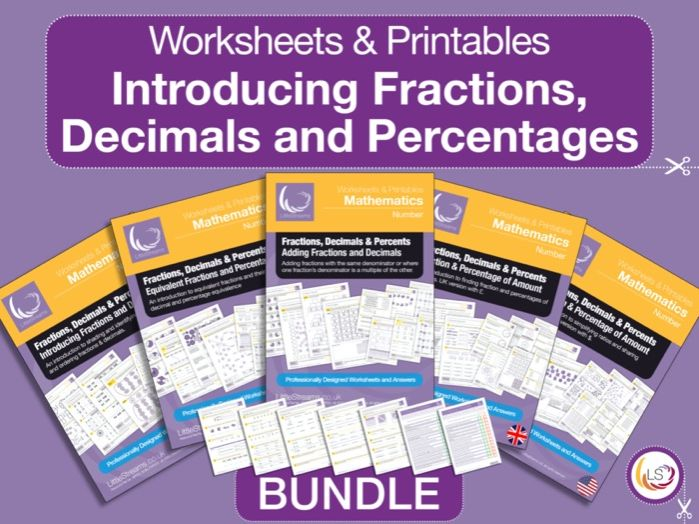 Fractions, Decimals & Percentages Intro Bundle