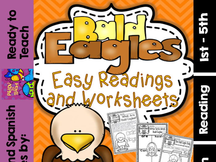 Bald Eagle - Ready to Print Easy Readings and Worksheets