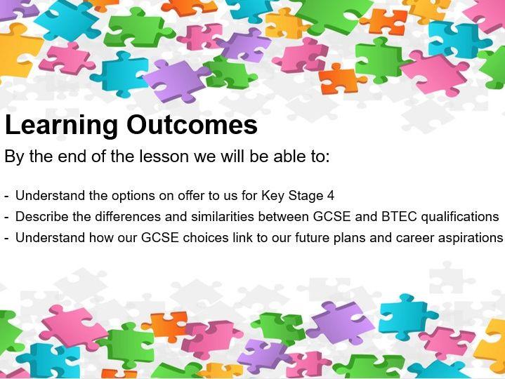 GCSE Option Choices & Careers Lesson - including LMI