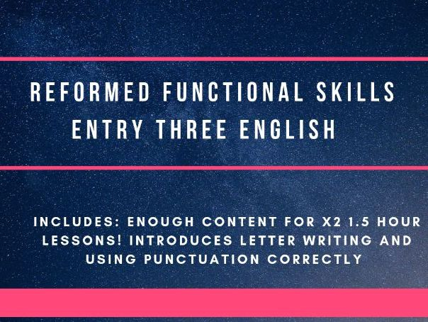 Reformed Functional Skills  - punctuation and letter writing
