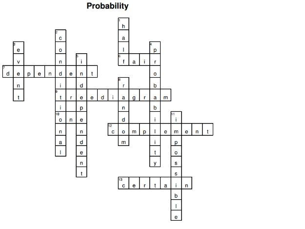 Probability crossword