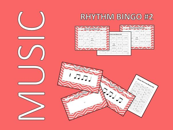 Music Rhythm Bingo #2 with Audio Files – Endless PowerPoint Games