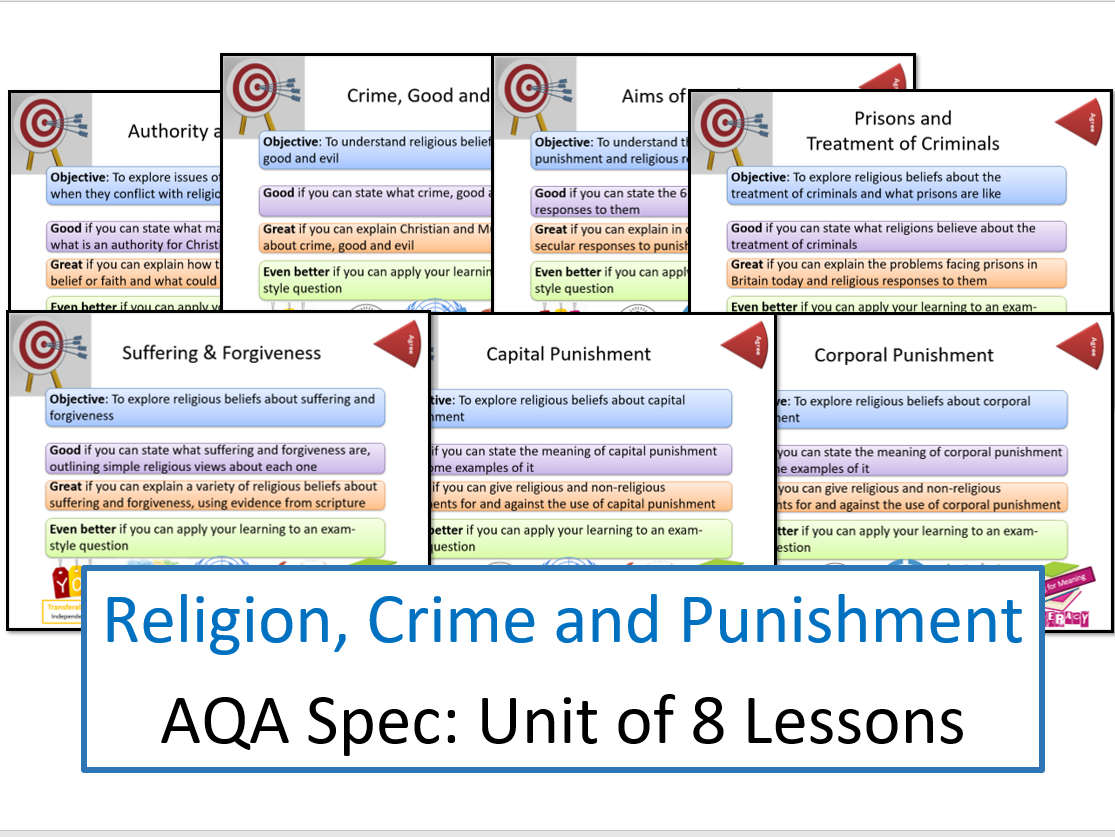 AQA: Themes: Religion, Crime and Punishment - Whole Unit