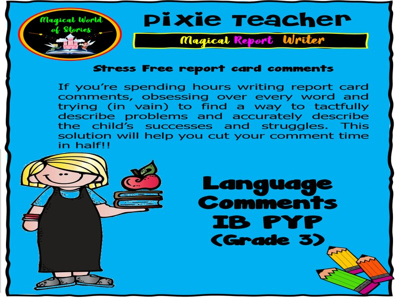 Free Report Card Comments - Language