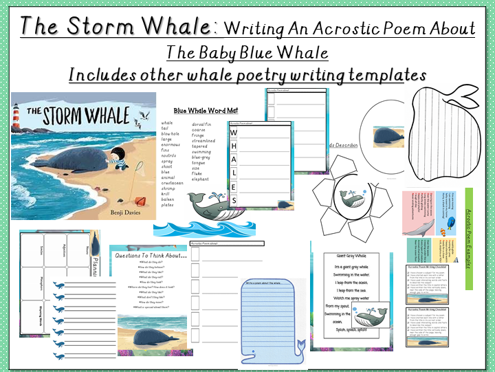 The Storm Whale: Planning and Writing an Acrostic Poem