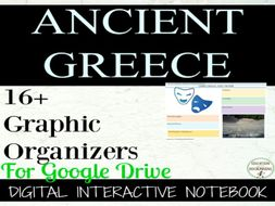 Ancient Greece Digital Interactive Notebook pages for Google Drive
