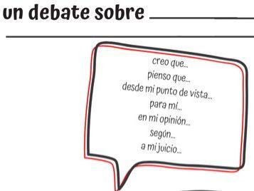 Spanish debate writing grid