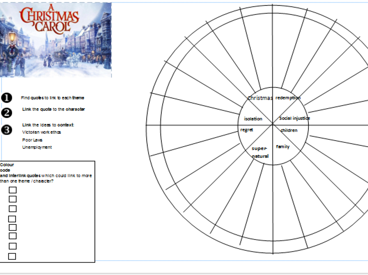 Quotation Revision Wheels for Christmas Carol, Jekyll and Hyde and Macbeth