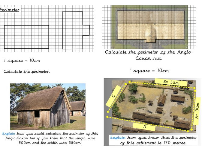 Anglo-Saxon Perimeter of settlements and huts with DEEP questions