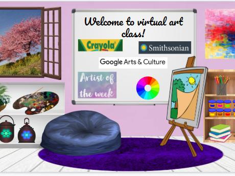 Bitmoji Virtual Classroom Template - Art