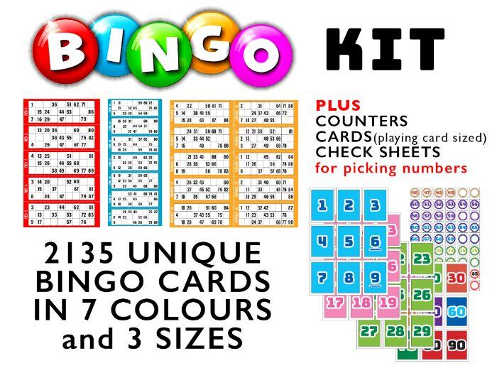 BINGO KIT (2135 Unique cards + MORE)