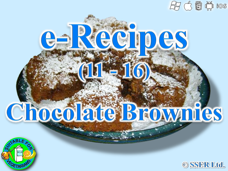 37.   Chocolate Brownies (e-Recipe)
