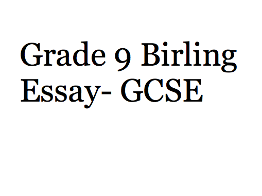 How is Arthur Birling presented in An Inspector Calls? Model Essay