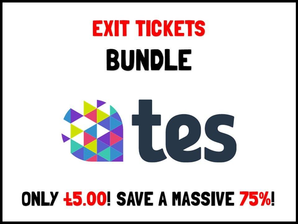 Exit ticket bundle