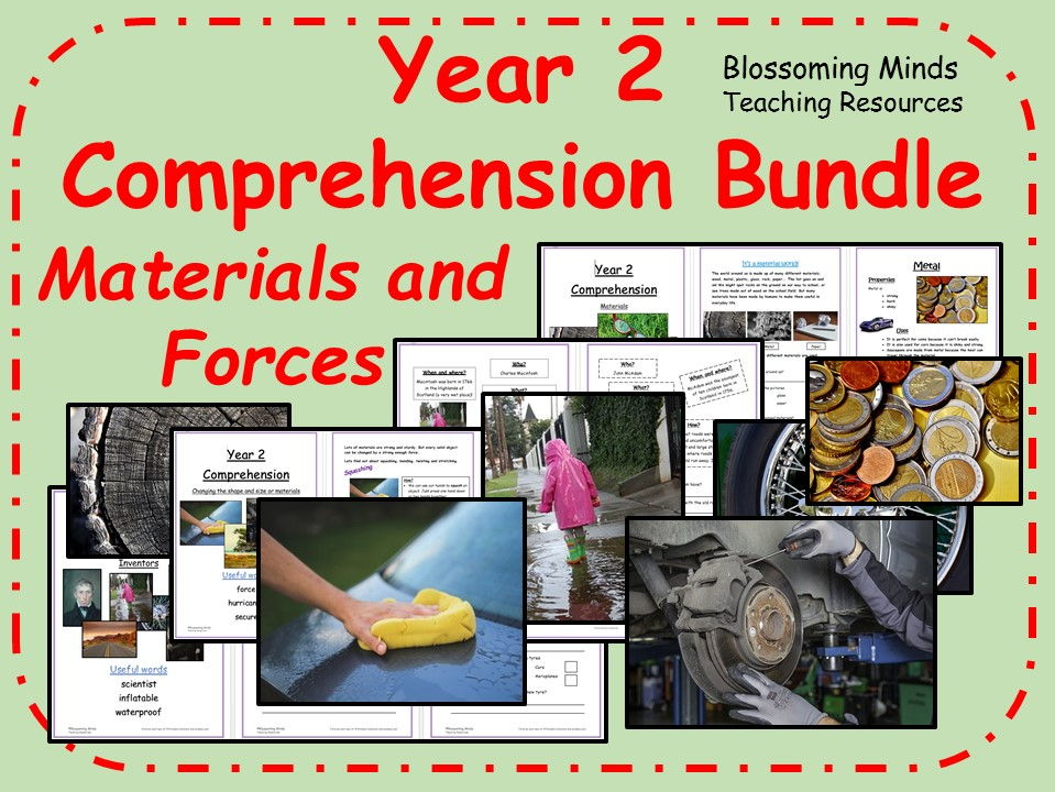 Year 2 Reading Comprehension Papers - Materials - Science