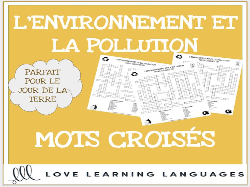 L'environnement - French crossword puzzles - Le Jour de la Terre - Earth Day
